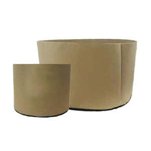 TAN FABRIC POT, TAN FABRIC POT 1136L