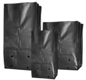 PLASTIC GROW BAGS, PLASTIC GROW BAG 4L